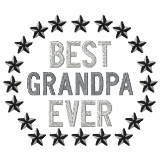Best Grandpa Ever All Star Stars Embroidery Polos