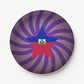 Best Haiti Flag Design Paper Plate