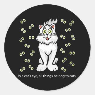 Best Kitty Kat Classic Round Sticker