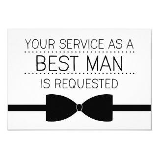 Best Man Request | Groomsmen 9 Cm X 13 Cm Invitation Card