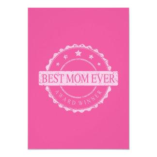 Best Mom Ever - Winner Award - Grunge 13 Cm X 18 Cm Invitation Card