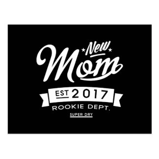 Best New Mum 2017 Dark Postcard