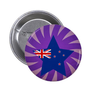 Best New Zealand Flag Design 6 Cm Round Badge