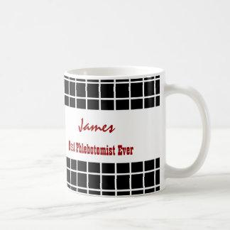 Best PHLEBOTOMIST Black Windowpane V23 Coffee Mug