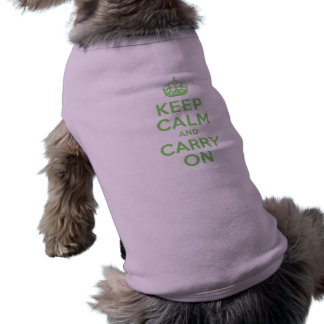 Best Price Keep Calm And Carry On Green Shirt