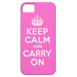 Best Price Keep Calm And Carry On White and Pink iPhone 5 Cases