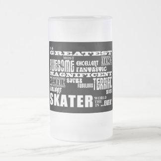 Best Skaters : Greatest Skater 16 Oz Frosted Glass Beer Mug