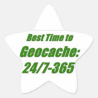 Best Time to Geocache Star Sticker