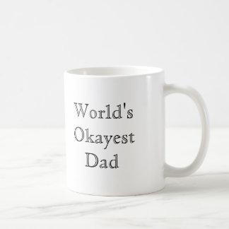 [Best Value] World's Okayest Dad Basic White Mug