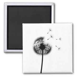 Best Wishes Black Dandelion Magnet