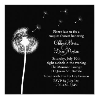 Best Wishes! His and Her Shower Invitation (black)