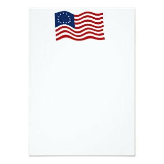 Betsy Ross Waving Flag 2 Invitation