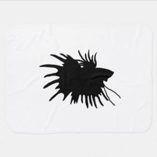 Betta Silhouette Love Siamese Fighting Fish Baby Blanket
