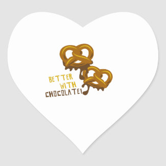 Better With Chocolate Heart Sticker