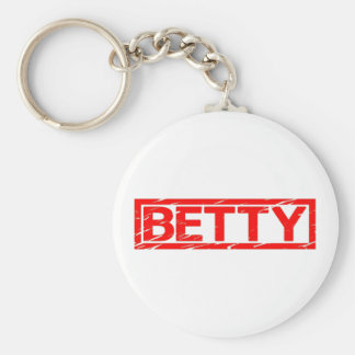 Betty Stamp Key Ring