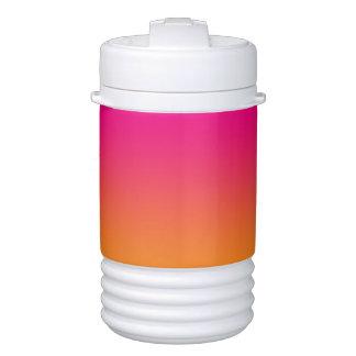Beverage Holder: Pink & Orange Ombre Drinks Cooler
