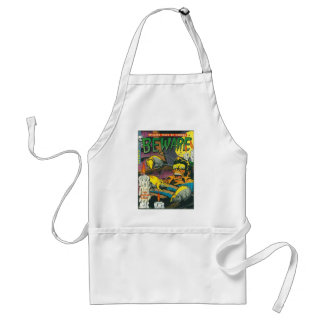 Beware comic book standard apron