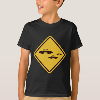 Beware of Ufo Funny Road Sign T-Shirt