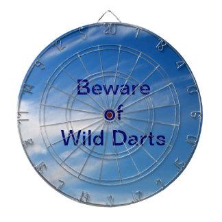 Beware of Wild Darts Dartboard