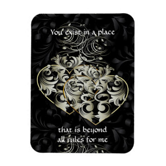 "Beyond Rules Black Heart 3""x4"" Magnet"