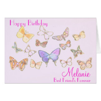 BFF Butterfly Birthday Card