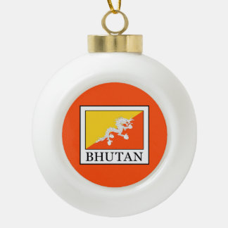 Bhutan Ceramic Ball Christmas Ornament