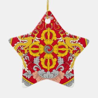 Bhutan Coat of Arms Christmas Ornament