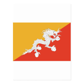 Bhutan dragon postcard
