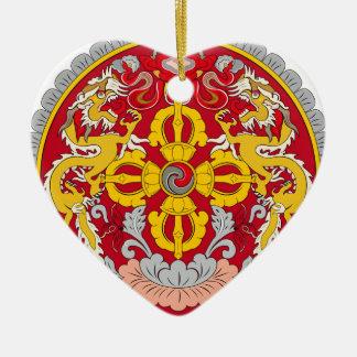 Bhutan emblem. Dragon motif Christmas Ornament
