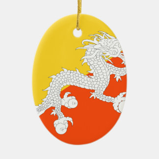 Bhutan Flag Christmas Ornament