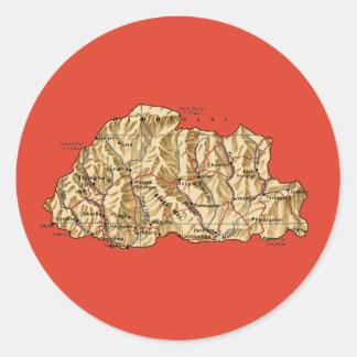 Bhutan Map Sticker