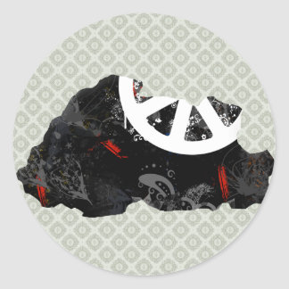 Bhutan Trendy Peace Sign with Bhutanese map Sticker