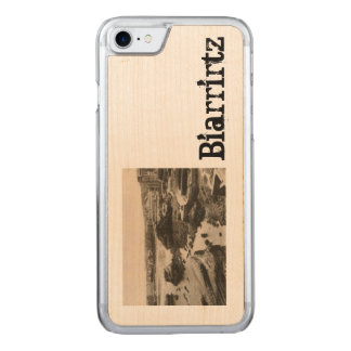 Biarrirtz beach france carved iPhone 7 case