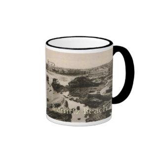 Biarrirtz beach france coffee mug