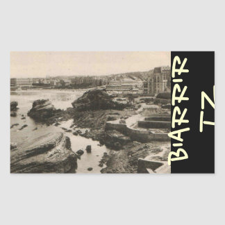 Biarrirtz beach france rectangular sticker