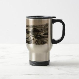Biarrirtz beach france stainless steel travel mug