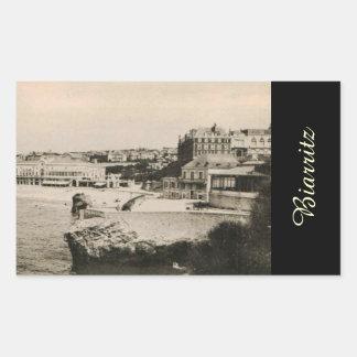 Biarritz - Casino on the beach Rectangular Sticker