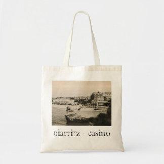 Biarritz - Casino on the beach Tote Bag