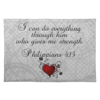Bible Christian Verse Philippians 4:13 Placemat