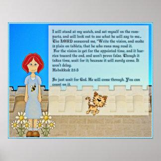 Bible encouragement scripture quote poster