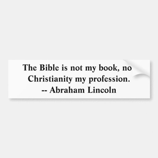 Bible is not my book bumper stickers