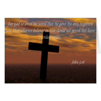 Bible quotes card John 3:16