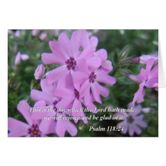Bible quotes card Psalm 118:24
