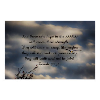 Bible Verse Isaiah 40:31 Poster