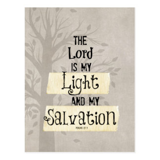 Bible Verse: The Lord is my Light and my Postcard