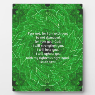 Bible Verses Inspirational Quote Isaiah 41:10 Plaque