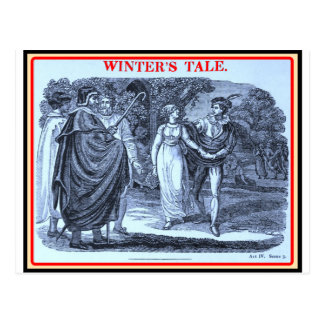 Bibliomania: Shakespeare - Winter's Tale Postcard