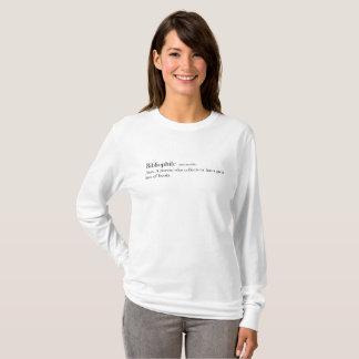 'Bibliophile' definition shirt, book worm T-Shirt