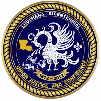 Bicentennial Louisiana Mardi Gras Party  Pin Photo Sculpture Badge
