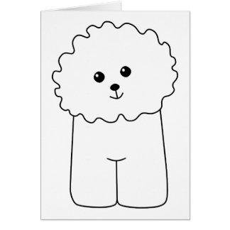 Bichon Frise, Cute Dog. Greeting Card